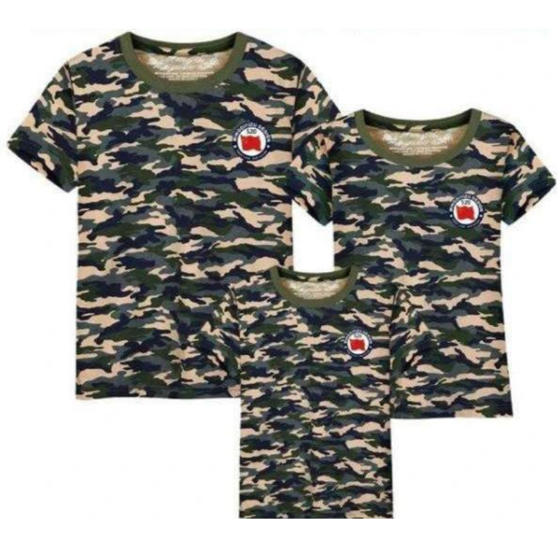T shirt Assorti Famille Militaire