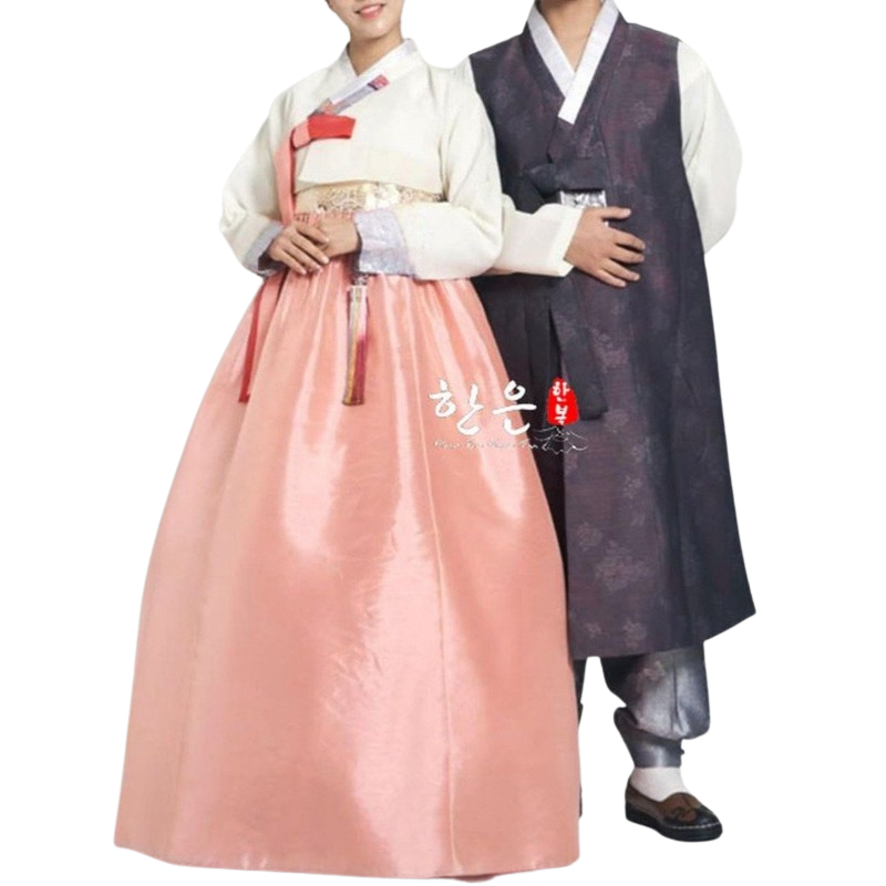 Hanbok Couple Violet Orange