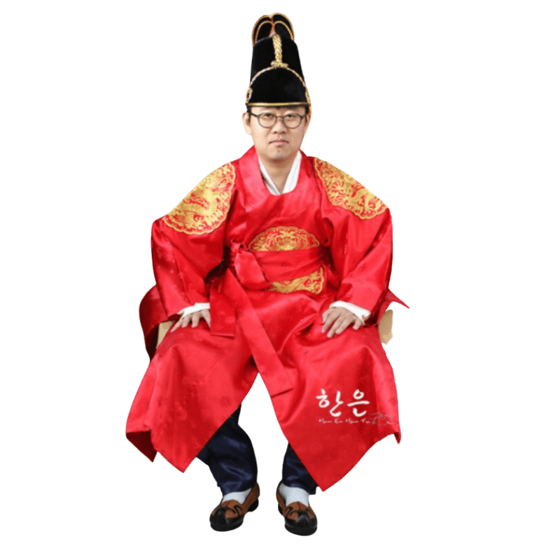Hanbok Homme Rouge