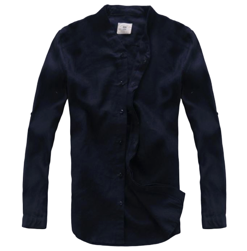 Chemise Col Mao Lin Homme