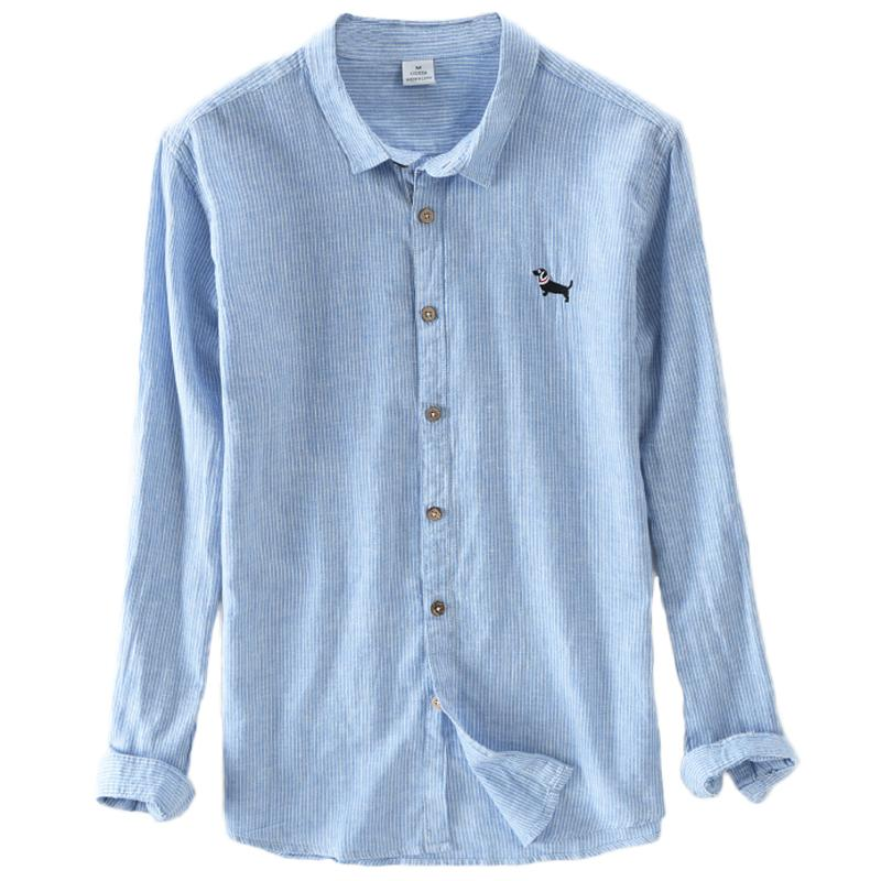 Chemise Lin Chien Homme