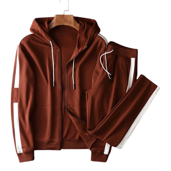 Ensemble Jogging Marron Homme