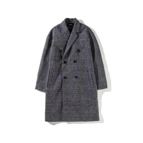 Long Manteau en Laine Homme