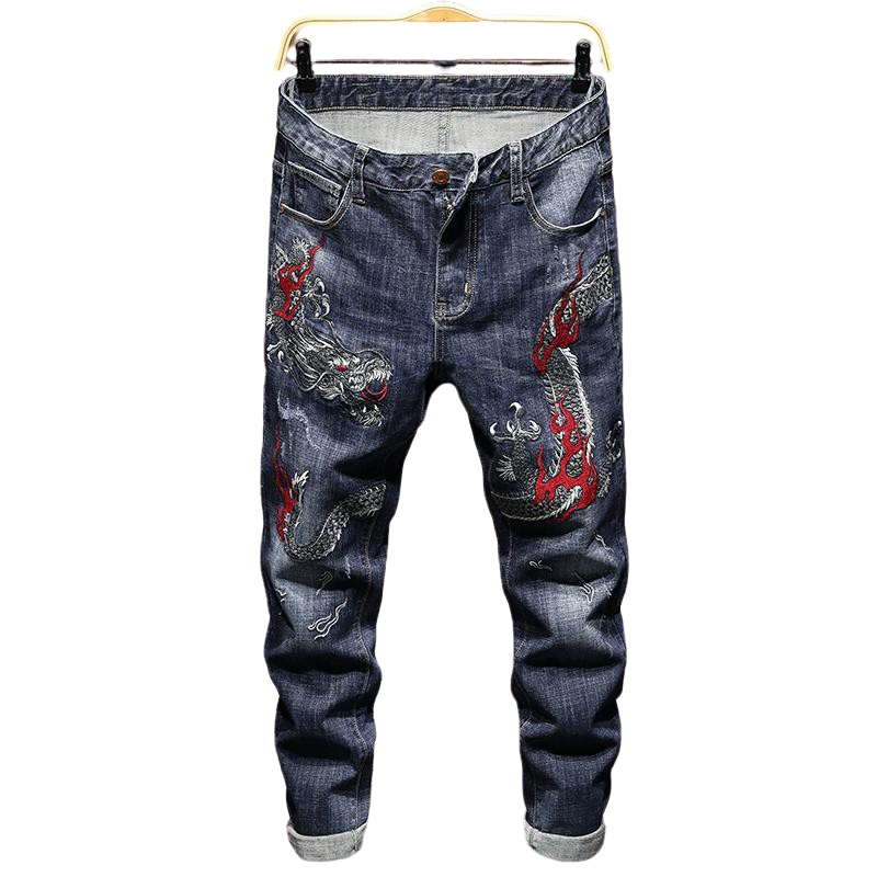 Pantalon Jean Dragon Rouge | MJ FRANKO