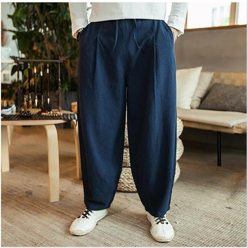 Pantalon Large en Lin