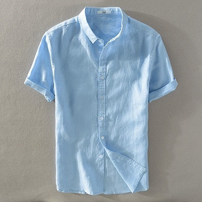 Chemise Lin Manches Courtes Homme
