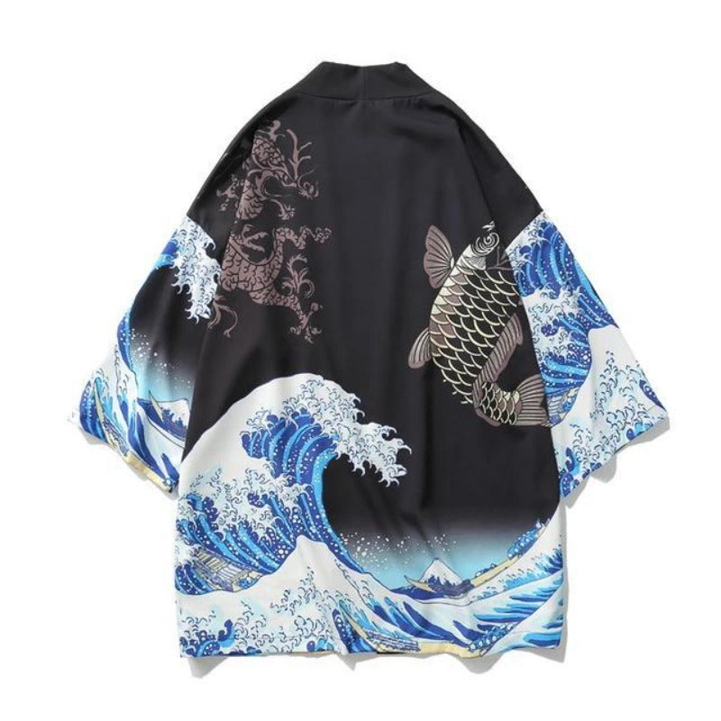 Cardigan Japonais Vague