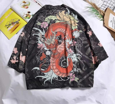 Cardigan Japonais Dragon | MJ FRANKO