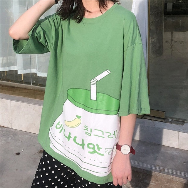 Long T Shirt Lait Japonais