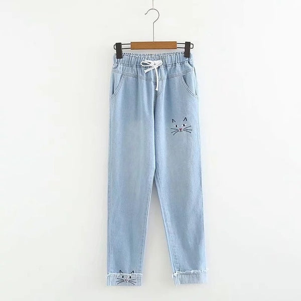 Pantalon Jean Chat Kawaii