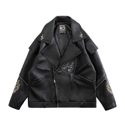 Veste Cuir Dragon | MJ FRANKO