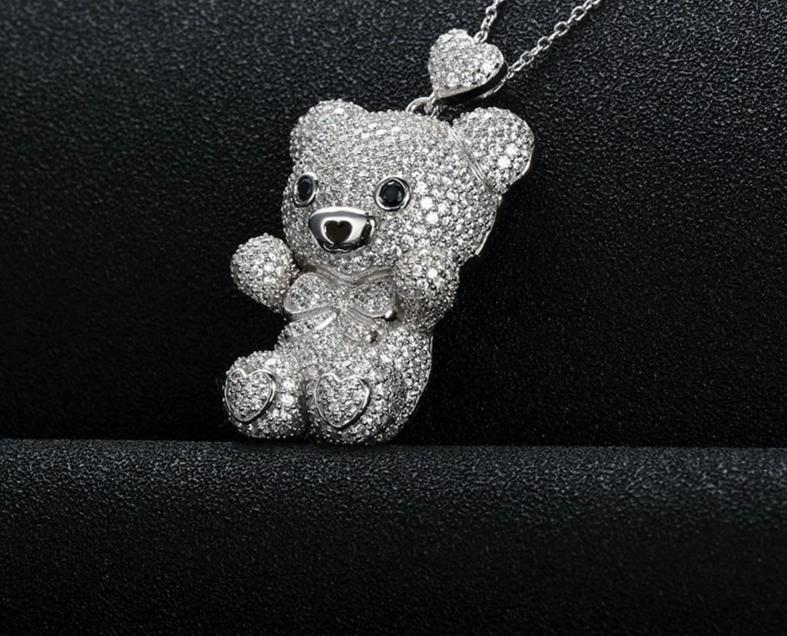 Pendentif Ours Argent | MJ FRANKO
