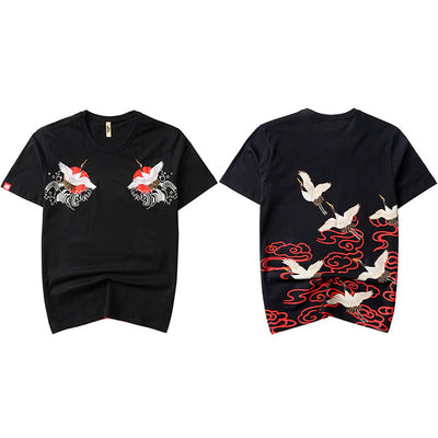 T Shirt Japonais Grues | MJ FRANKO