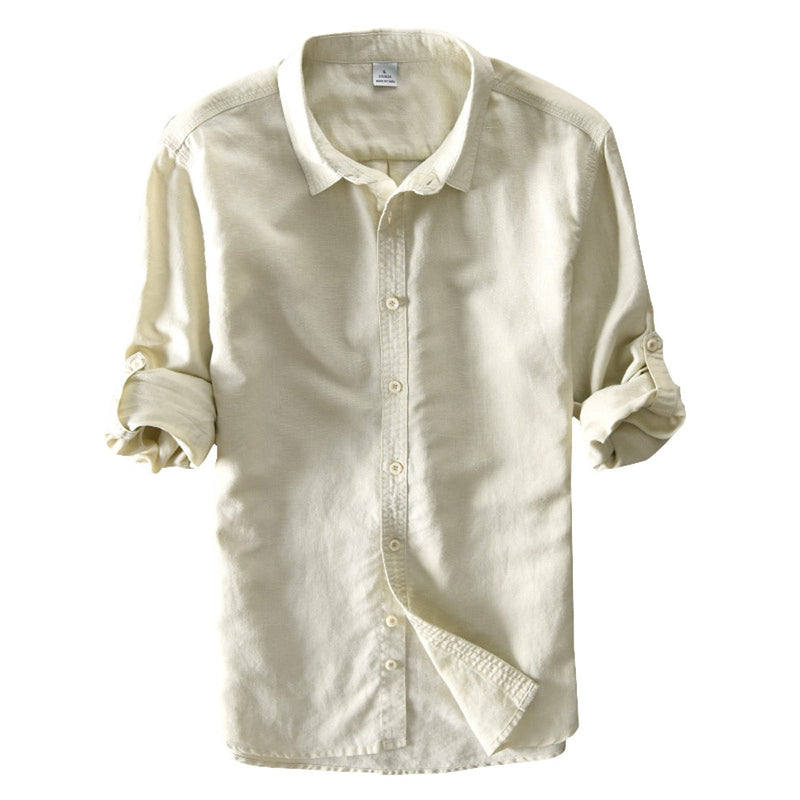 Chemise Lin Manches Longues Homme