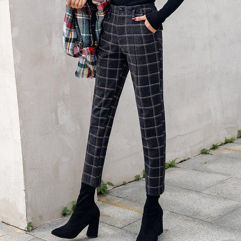 Pantalon Plaid à Carreaux