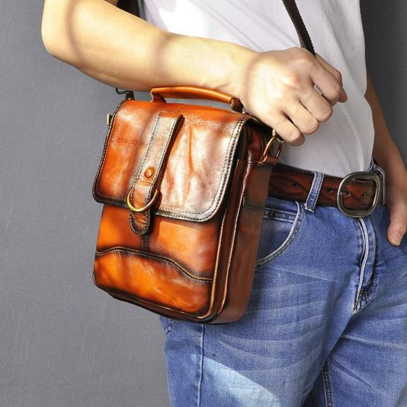 Sacoche Vintage Cuir Homme