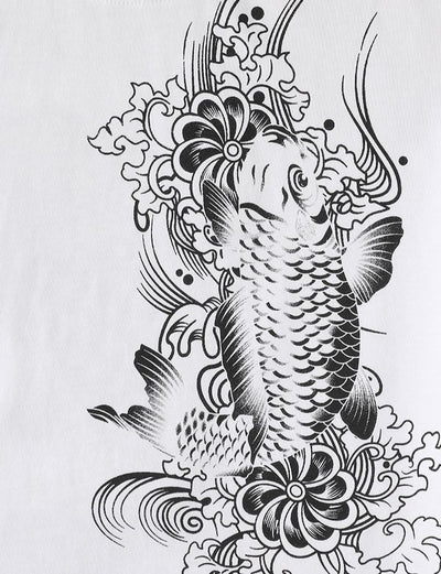 T Shirt Koi Et Dragon | MJ FRANKO