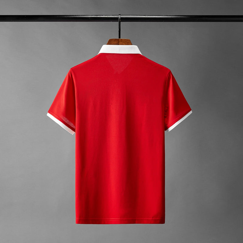 T Shirt Rouge Brodé Homme | MJ FRANKO