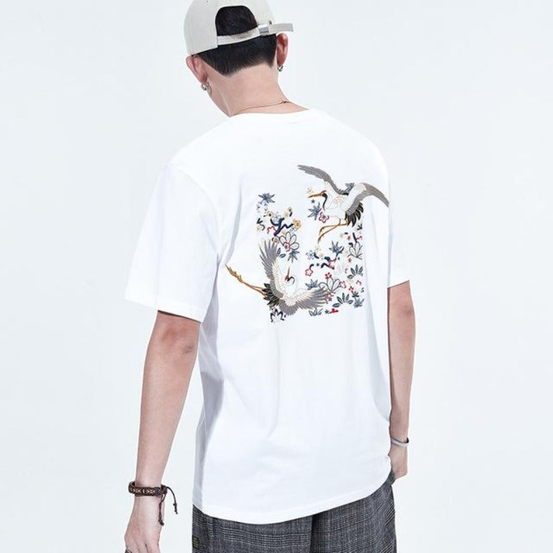 T Shirt Homme Grues | MJ FRANKO