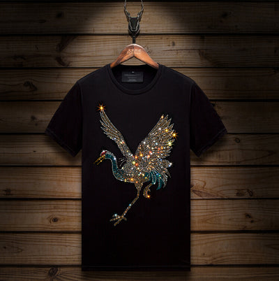 Tee Shirt Strass Grues | MJ FRANKO
