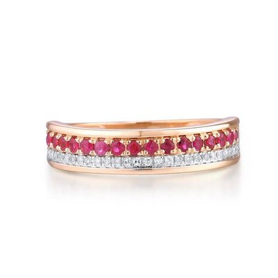 Bague Fiancaille Or Rose Saphir