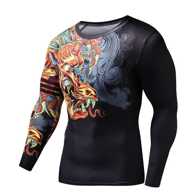 T Shirt Compression Dragon