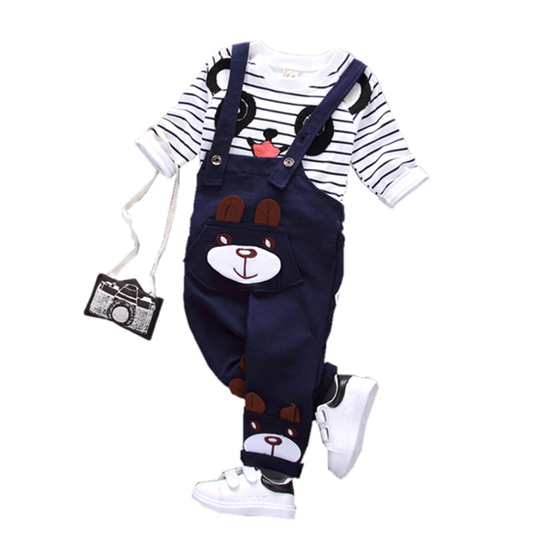 Ensemble salopette et T-shirt ourson enfant - MJ FRANKO