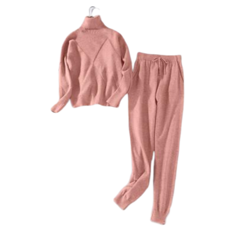 Ensemble Pull et Pantalon rose | MJ FRANKO