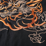 T-shirt avec broderie Grand Dragon