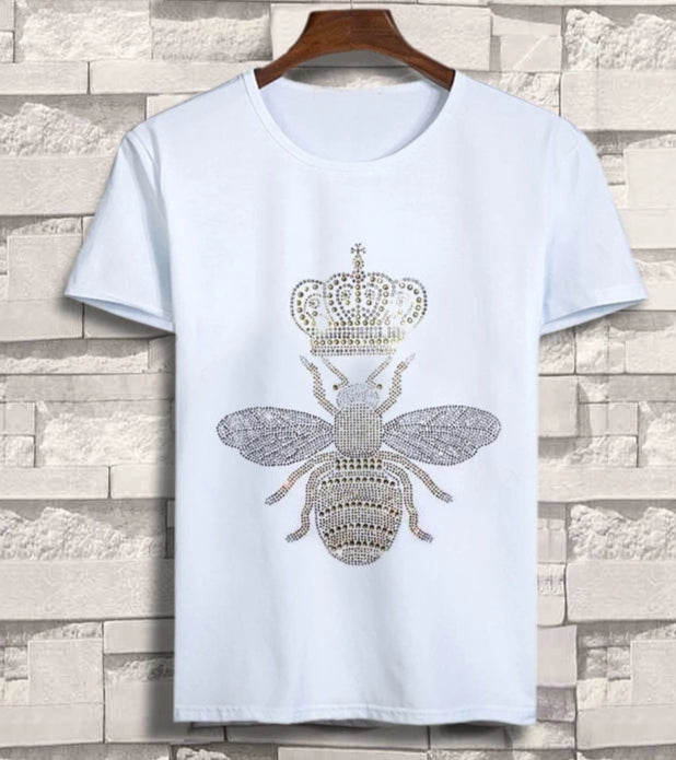 T Shirt Abeille Strass