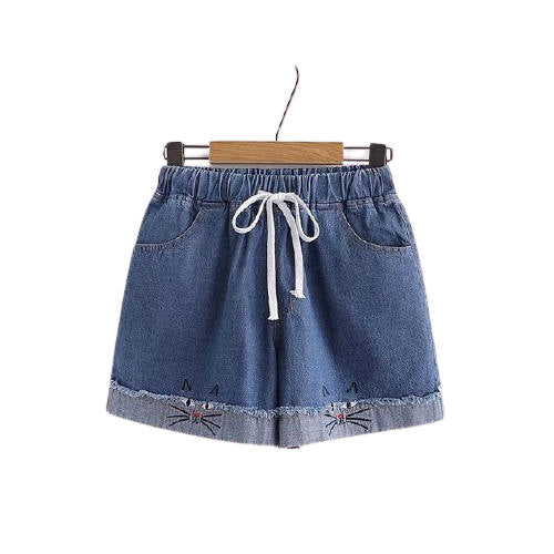 Short Jean Chat Kawaii