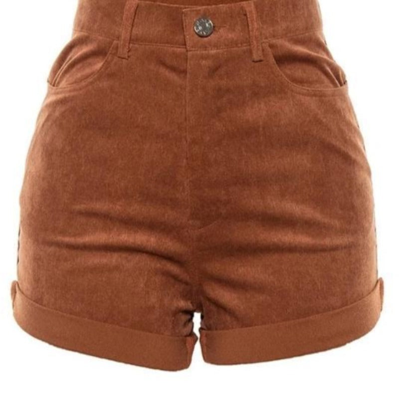 Short Velours Marron Femme | MJ FRANKO