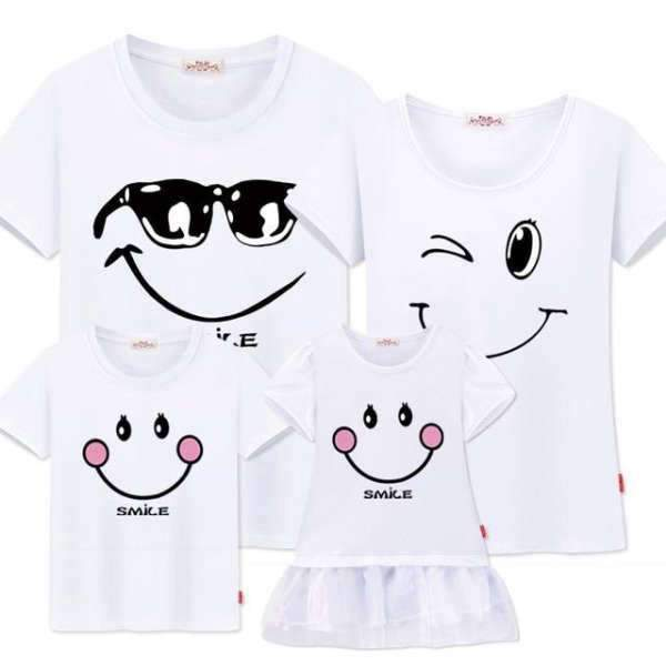 T Shirt Assorti Famille Smile Emoticônes