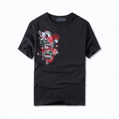 T Shirt Avec Broderie Dragon | MJ FRANKO