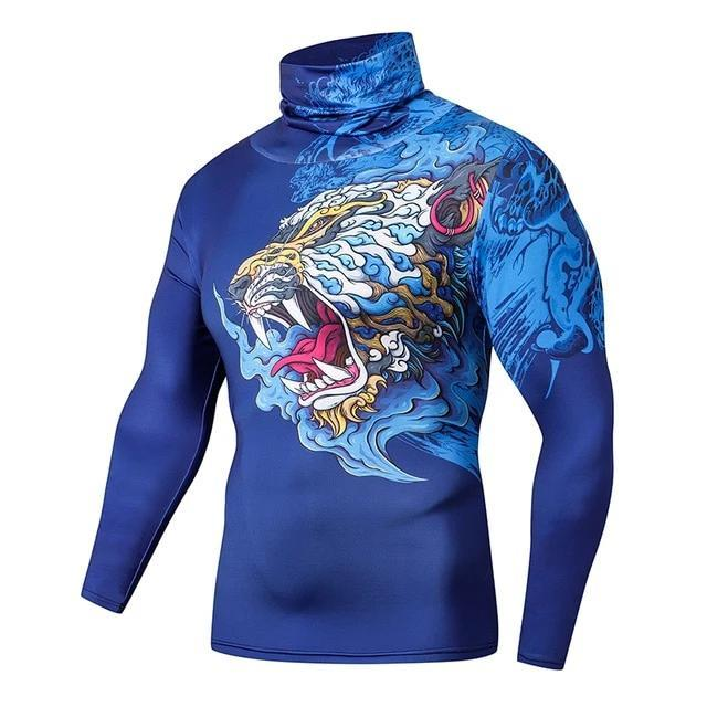 T Shirt de Compression Tigre