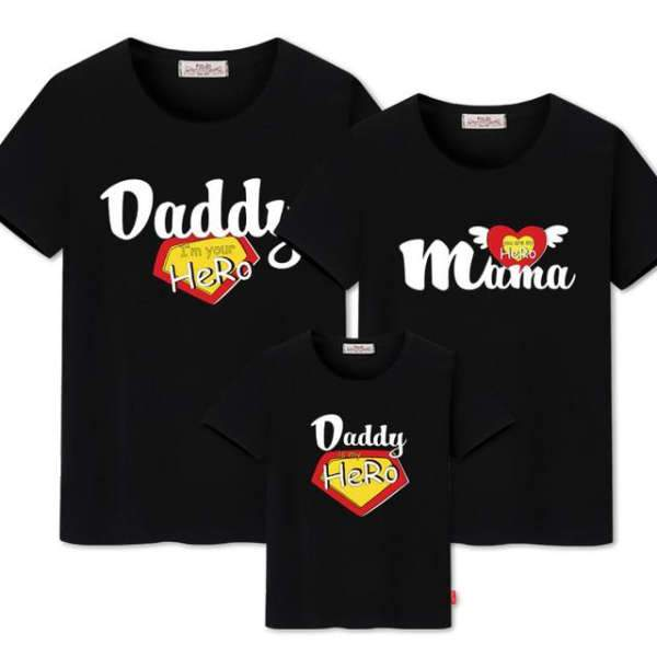 T Shirt Famille Assorti My Hero