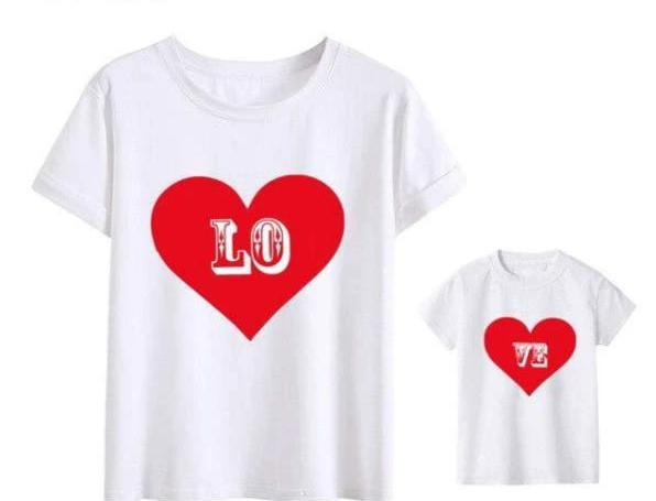 Tee Shirt Assorti Mère Fille Love