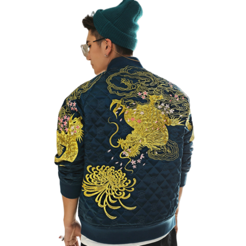 Veste Dragon Brodé Or