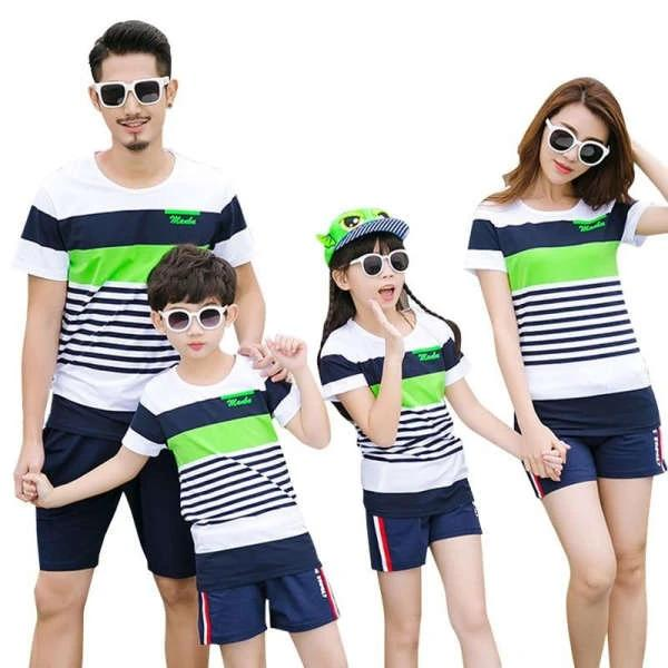 Vêtement Assorti Famille Short T Shirt