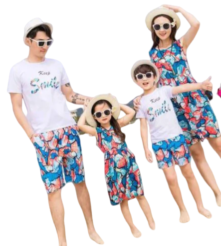 Vêtement Assorti Famille T shirt Short