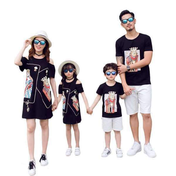 Vêtement Famille Assorti T Shirt Short Cartes