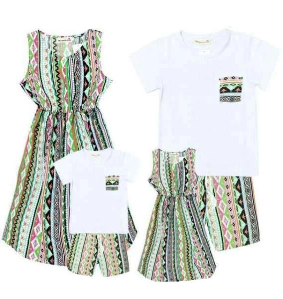 Vêtement Famille Assorti T Shirt Short Robe
