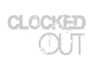 "Clocked Out - 6"" Decal"