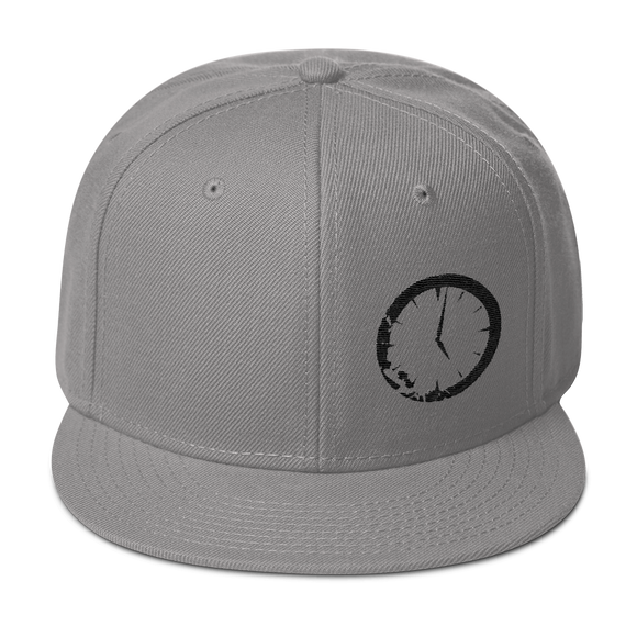 Grey Clock Snapback Hat
