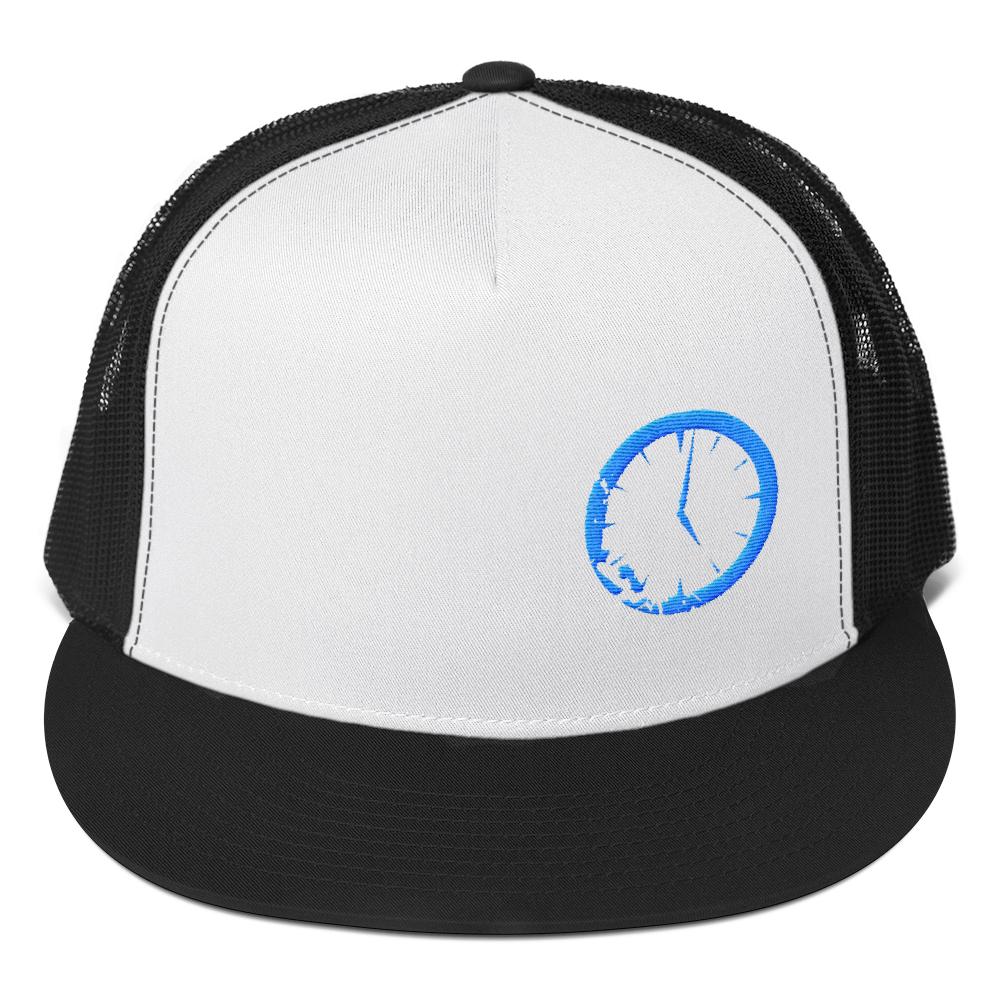 Blue Clock Trucker Cap