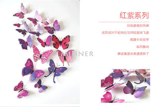 12pcs PVC 3d Butterfly Wall Decor