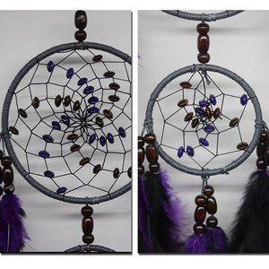 India Style Purple Feather with Bead Dream Catcher