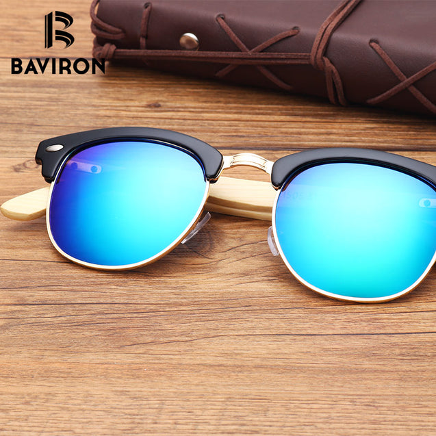 Real Bamboo Sunglasses TAC Lenses Women Square Glasses Men Outdoor Cool Glasses Retro Stylish Wooden Eyewear Unisex