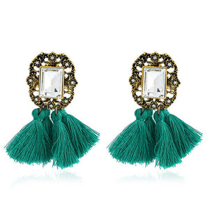 Statement jewelry Bohemian long tassel earrings