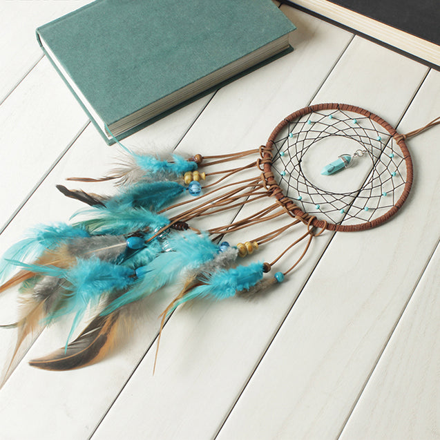 Indian Retro Life Tree Colorful Feather Dream Catcher